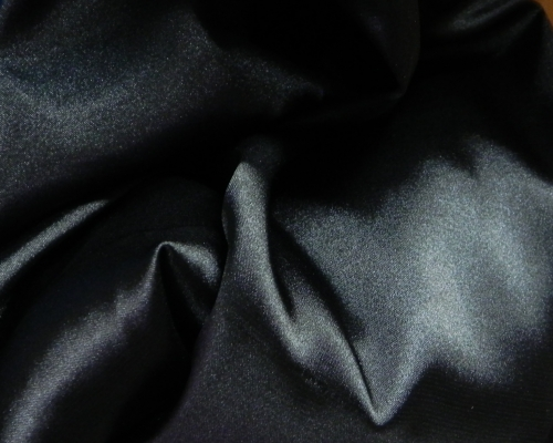 Атлас стрейч (черный)